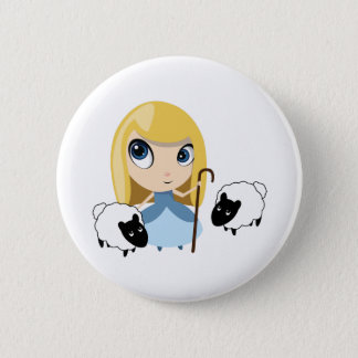 Little Bo Peep and her Sheep Pinback Button