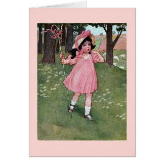 Little Bo-Peep and Missing Sheep Nursery Rhyme Greeting Card