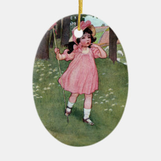 Little Bo-Peep and Missing Sheep Nursery Rhyme Ceramic Ornament