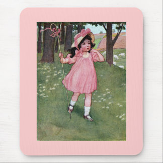 Little Bo-Peep and Missing Sheep Nursery Rhyme Mouse Pad