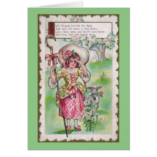 Little Bo-Peep and One Sheep Card