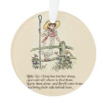 Little Bo Peep art print drawing illustration Ornament