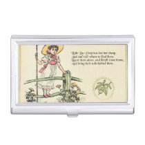 Little Bo Peep art print illustration vintage Business Card Holder