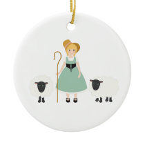 Little Bo Peep Ceramic Ornament