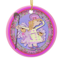 Little Bo Peep Ceramic Ornament