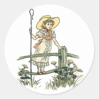 Little Bo Peep Classic Round Sticker