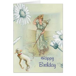 Little Bo Peep Happy Birthday Greeting Cards