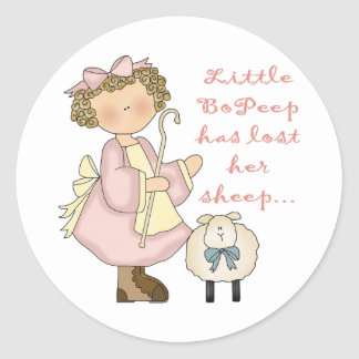 Little Bo Peep Kids Gift Classic Round Sticker