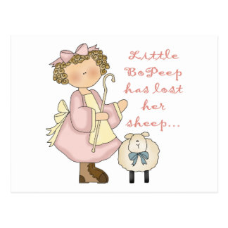 Little Bo Peep Kids Gift Postcard