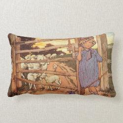 Little Bo-Peep Nursery Rhyme Lumbar Pillow
