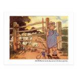 Little Bo-Peep Nursery Rhyme - Postcard