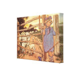 Little Bo-Peep Nursery Rhyme Stretched Canvas Gallery Wrapped Canvas