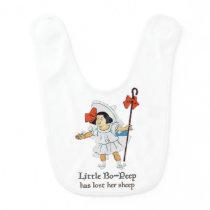 LITTLE BO-PEEP - Nursery Rhymes for Toddlers Baby Bib