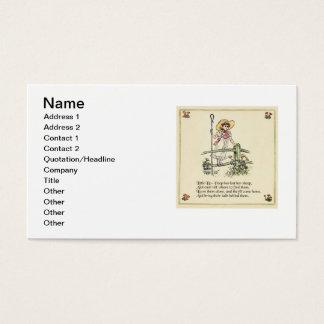Little Bo Peep Vintage Nursery Rhyme Business Card