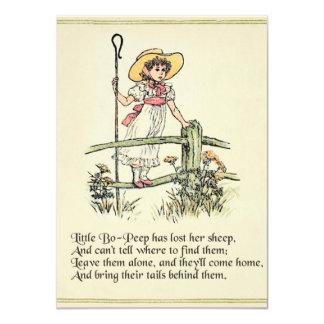 Little Bo Peep Vintage Nursery Rhyme Card