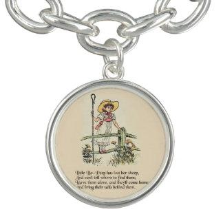 Little Bo Peep Vintage Nursery Rhyme Charm Bracelets