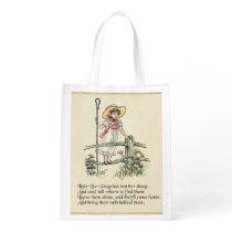 Little Bo Peep Vintage Nursery Rhyme Grocery Bag