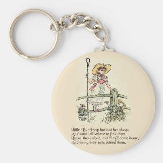 Little Bo Peep Vintage Nursery Rhyme Keychain