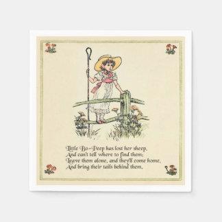 Little Bo Peep Vintage Nursery Rhyme Napkin