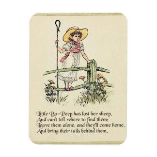 Little Bo Peep Vintage Nursery Rhyme Rectangular Photo Magnet