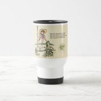 Little Bo Peep Vintage Nursery Rhyme Travel Mug