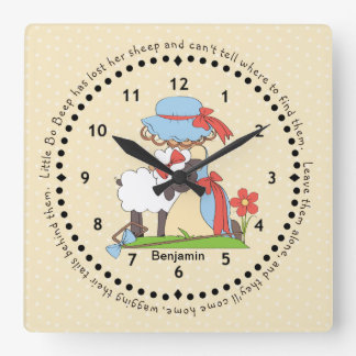 Little Bo Peep Wall Clock