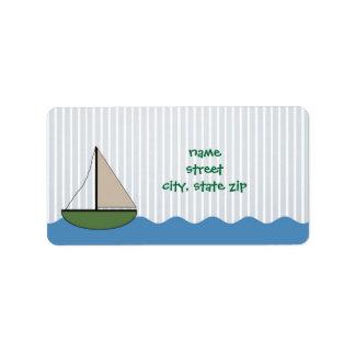 Little Boat baby shower or birthday address label