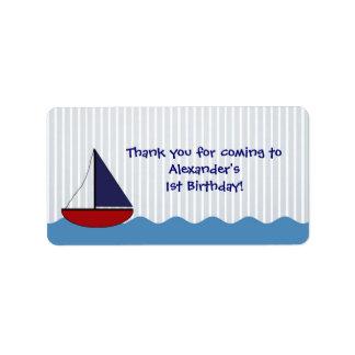 Little Boat Birthday Favor Label