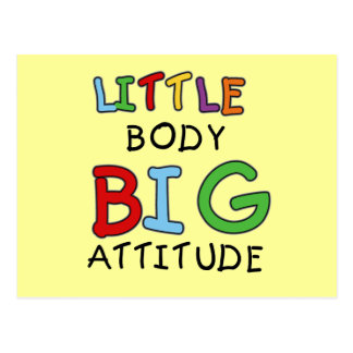 Little Body Big Attitude Tshirts and Gifts Postcard