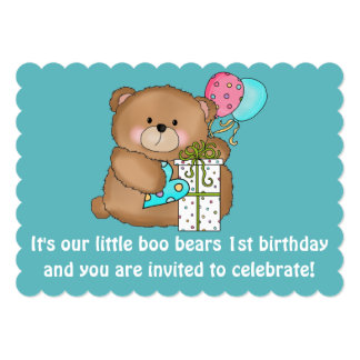 Little Boo Bear's 1st Birthday Party Invitation