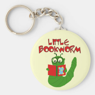 Little Bookworm Tshirts and Gifts Keychain