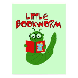 Little Bookworm Tshirts and Gifts Postcard