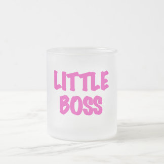 Little Boss - Pink Tshirts and Gifts Frosted Glass Coffee Mug