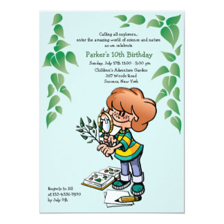 Little Botanist Invitation