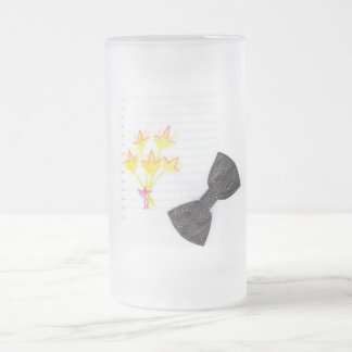 little bouquet 16 oz frosted glass beer mug