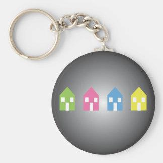 Little Boxes Basic Round Button Keychain