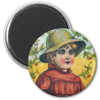Little Boy 2 Inch Round Magnet