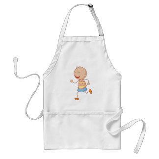 Little boy adult apron