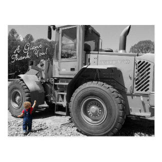 Little Boy and a Tractor Thank You Postcard