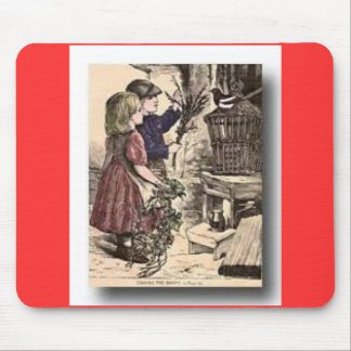 Little Boy and Little Girl Mouse Pad