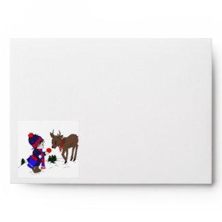 Little Boy and Reindeer envelope