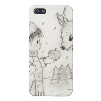 little boy and reindeer iPhone SE/5/5s cover
