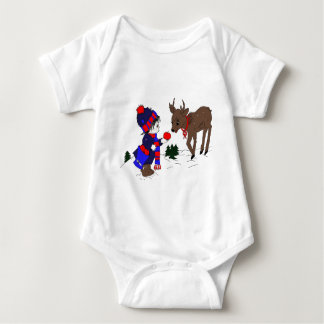 Little Boy and Reindeer Shirt