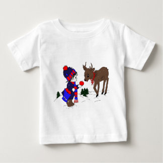 Little Boy and Reindeer Tee Shirt