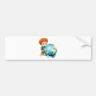 Little boy and the world bumper sticker