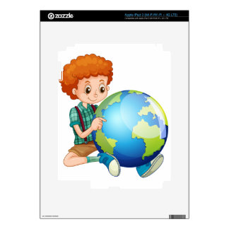 Little boy and the world decal for iPad 3