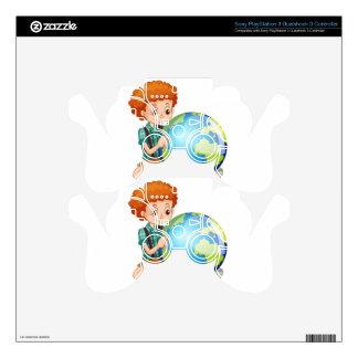 Little boy and the world PS3 controller skins