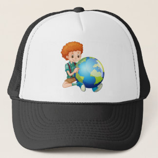 Little boy and the world trucker hat