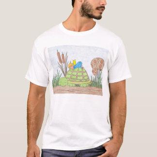 Little Boy Angel in Blue T-Shirt