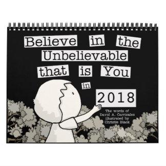 Little Boy Arranges Words 2018 (Medium) Calendar